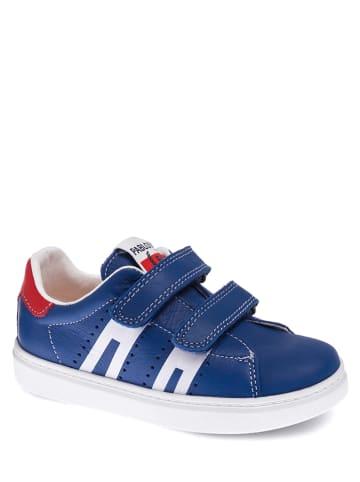 Pablosky Skórzane sneakersy w kolorze niebieskim