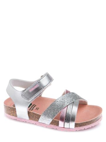 Pablosky Sandały w kolorze srebrnym