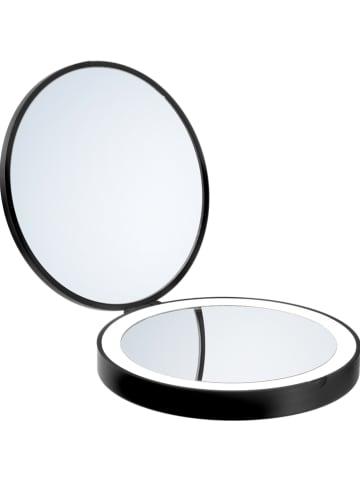 """SMEDBO LED-Kosmetikspiegel """"Outline Lite"""" in Schwarz - Ø 12 cm"""