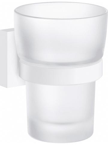 """SMEDBO Kubek łazienkowy """"House"""" w kolorze białym - 7,5 x 9,8 x 9,3 cm"""