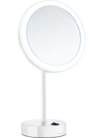"""SMEDBO LED-Kosmetikspiegel """"Outline"""" in Weiß - Ø 20 cm"""