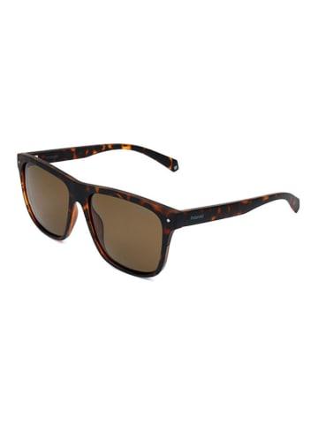 """Polaroid Okulary przeciwsłoneczne """"6041/S"""" w kolorze brązowym ze wzorem"""