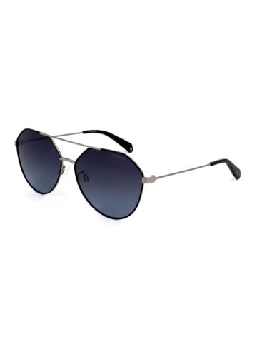"""Polaroid Okulary przeciwsłoneczne """"6059/F"""" w kolorze srebrno-czarnym"""