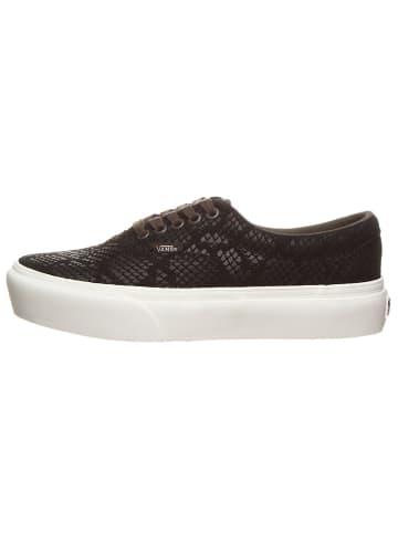 """Vans Leren sneakers  """"Era-Plattform """" zwart"""