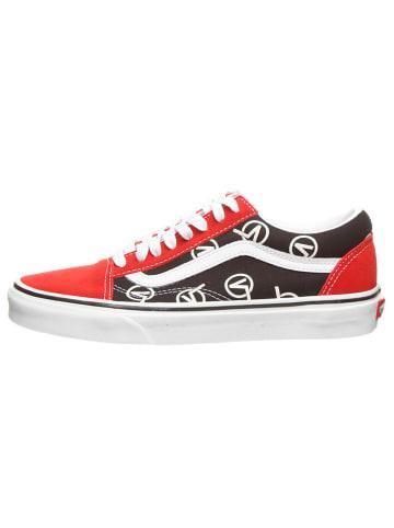 """Vans Sneakers """"Old Skool"""" in Schwarz/ Rot"""
