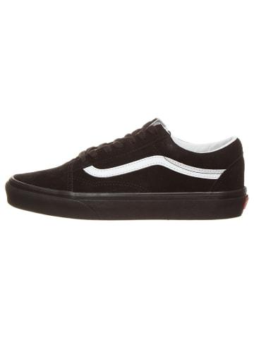 """Vans Leren sneakers  """"Old Skool """" zwart"""