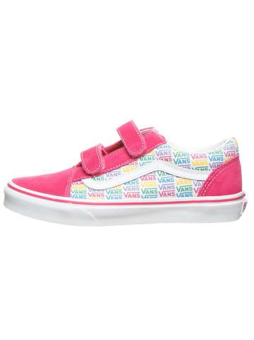 """Vans Sneakersy """"Old Skool V"""" w kolorze jasnoróżowym ze wzorem"""