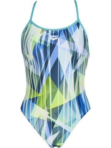 """Arena Strój kąpielowy """"Shading Prism"""" w kolorze błękitno-zielonym"""