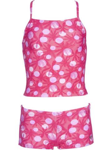 """Arena Tankini """"Tropical Summer"""" w kolorze różowym"""