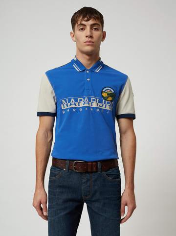 """Napapijri Koszulka polo """"Eishop"""" w kolorze szaro-niebieskim"""