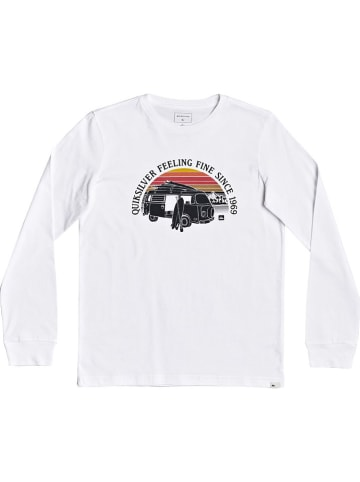 """Quicksilver Longsleeve """"Come Sail Away"""" in Weiß"""