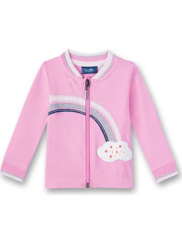 Sanetta Kidswear Sweatvest lichtroze