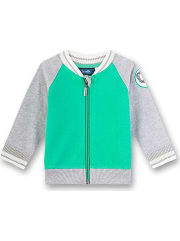 Sanetta Kidswear Sweatvest groen/grijs