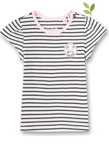 Sanetta Shirt wit/antraciet