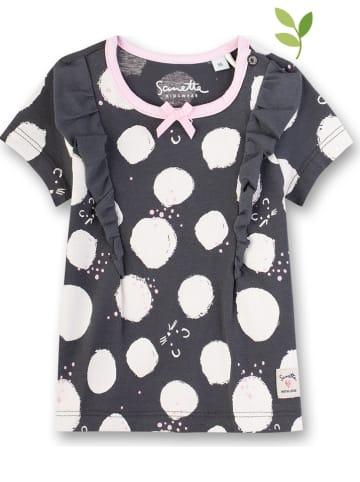 Sanetta Shirt antraciet/wit