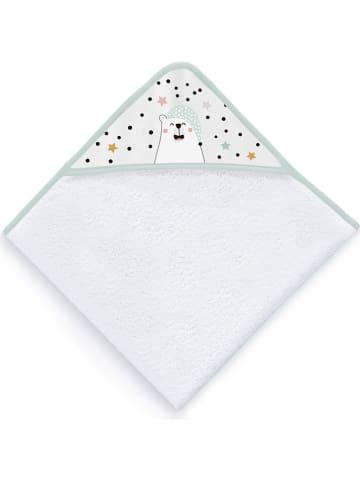 Naf Naf Badcape wit/mintgroen - (L)100 x (B)100 cm