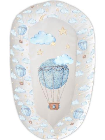 Naf Naf Stootkussen crème/lichtblauw - (B)48 x (H)8 x (D)90 cm