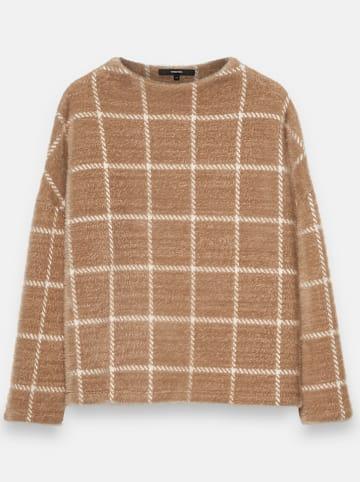 """OPUS Sweter """"Ukaro"""" w kolorze jasnobrązowym"""
