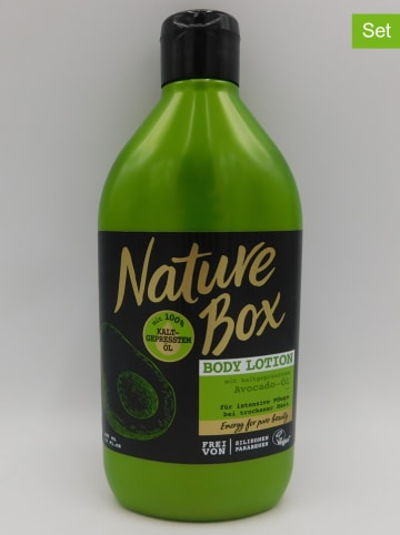 "NATURE BOX 3er-Set: Bodylotions ""Avocado-Öl"", je 385 ml"