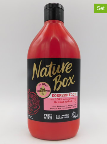 "NATURE BOX 3-delige set: bodylotions ""Granaatappel-olie"", elk 385 ml"