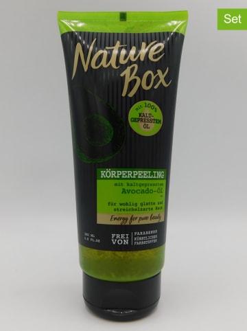 NATURE BOX Peelingi (3 szt.) do ciała - 3 x 200 ml