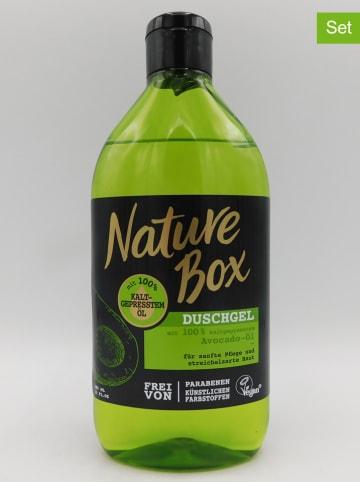 "NATURE BOX 3er-Set: Duschgele ""Avocado-Öl"", je 385 ml"