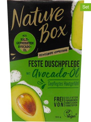 "NATURE BOX 3er-Set: Feste Duschpflege ""Avocado-Öl"", je 150 g"