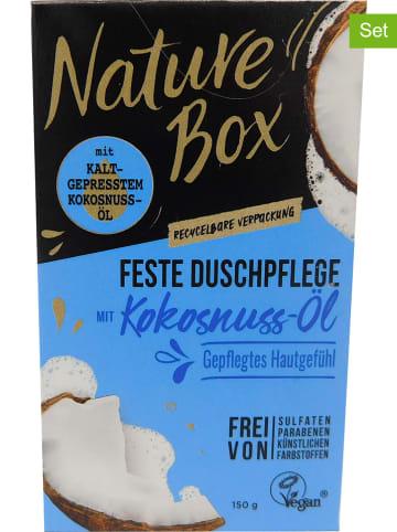"NATURE BOX 3er-Set: Feste Duschpflege ""Kokosnuss-Öl"", je 150 g"