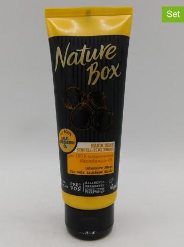 "NATURE BOX 3er-Set: Handcremes ""Macadamia-Öl"", je 75 ml"