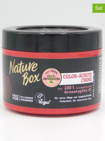 """NATURE BOX 3-delige set: beschermcrèmes voor gekleurd haar """"Granaatappel-olie"""", elk 200 ml"""
