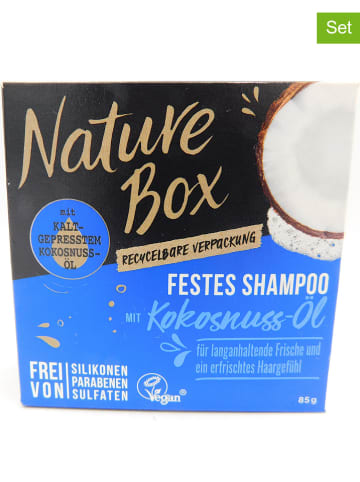 """NATURE BOX 3er-Set: Feste Shampoos """"Kokosnuss-Öl"""", je 85 g"""