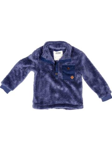 "Ebbe Fleece trui ""Brent"" donkerblauw"