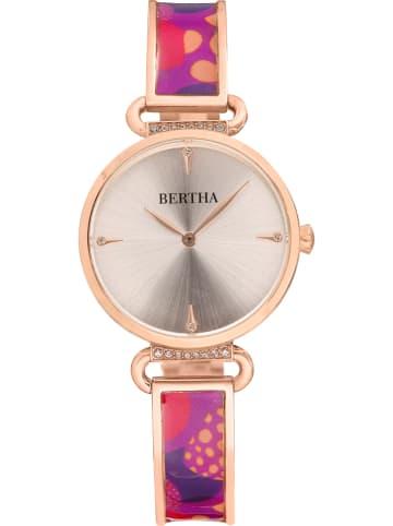 """Bertha Kwartshorloge """"Katherine"""" roségoudkleurig/roze"""