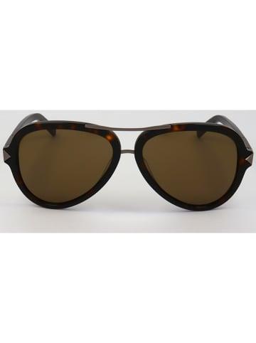 Karl Lagerfeld Męskie okulary przeciwsłoneczne w kolorze brązowym