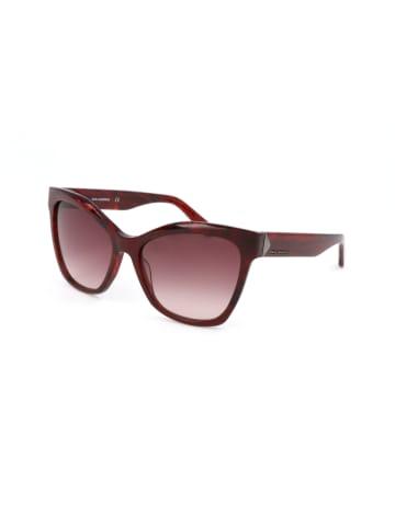 Karl Lagerfeld Damen-Sonnenbrille in Rot/ Rosa