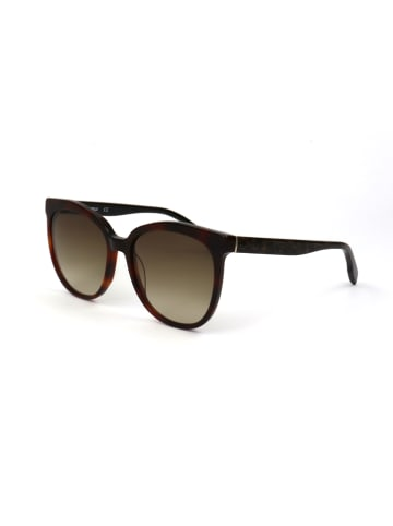 Karl Lagerfeld Damskie okulary przeciwsłoneczne w kolorze brązowo-oliwkowym