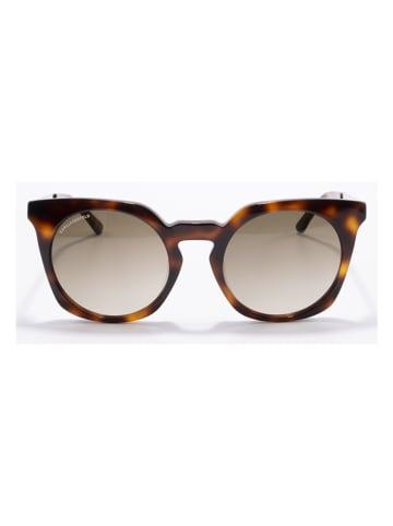 Karl Lagerfeld Damen-Sonnenbrille in Braun-Silber/ Hellbraun