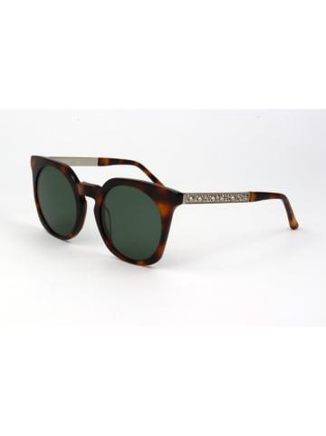 Karl Lagerfeld Damen-Sonnenbrille in Braun-Silber/ Grün