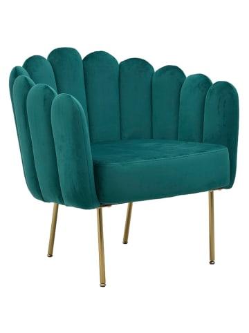 InArt Fotel w kolorze ciemnozielonym - (S)76 x (W)60 x (G)73 cm