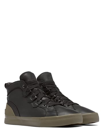 "Sorel Skórzane sneakersy ""Caribou"" w kolorze czarnym"