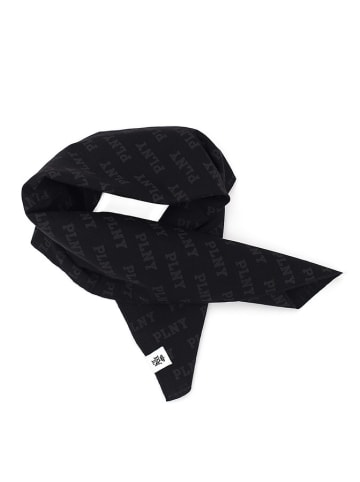 """PLNY Bandana """"PLNY Monogram"""" w kolorze czarnym - (D)57 x (S)57 cm"""