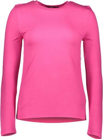 """Karl Lagerfeld Longsleeve """"Athleisure Logo Tape"""" roze"""