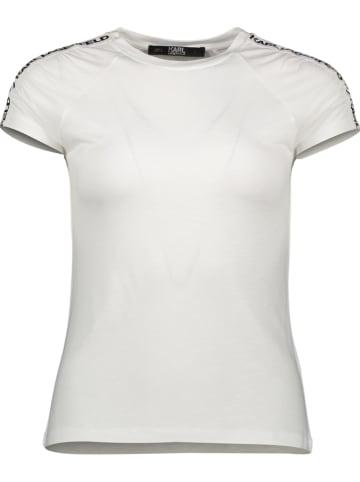 """Karl Lagerfeld Shirt """"Athleisure Logo Tape"""" in Weiß"""