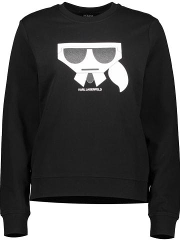 """Karl Lagerfeld Bluza """"Kocktail"""" w kolorze czarnym"""
