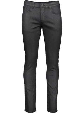 """Karl Lagerfeld Dżinsy """"Coated"""" - Skinny fit - w kolorze czarnym"""