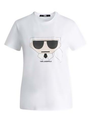 """Karl Lagerfeld Koszulka """"K/Kocktail Karl"""" w kolorze białym"""