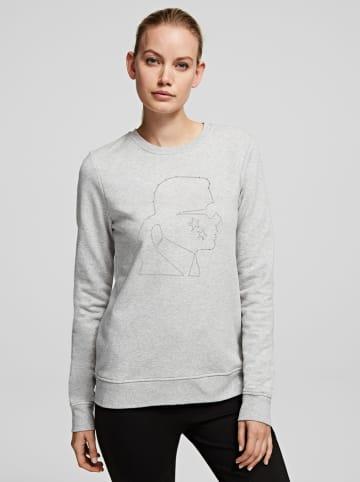 "Karl Lagerfeld Sweatshirt ""Constellation Cameo"" grijs"