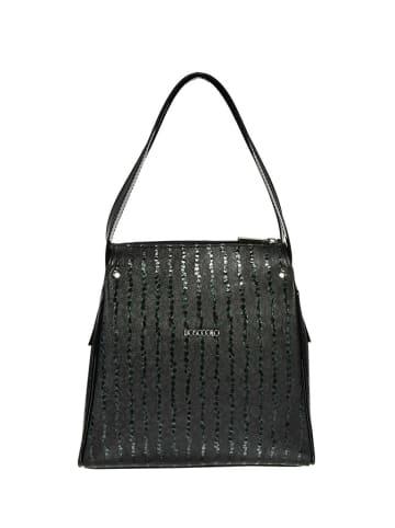 BOSCCOLO Skórzana torebka w kolorze ciemnozielonym - (S)23 x (W)25 x (G)13 cm