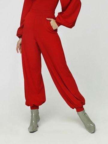 Madnezz Spodnie w kolorze bordowym