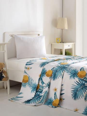 """Colourful Cotton Narzuta """"Custom Ananas"""" w kolorze zielono-białym"""